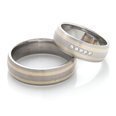 Snubní prsteny z chirurgické oceli OZ1002 (Snubní prsteny OZ1002)