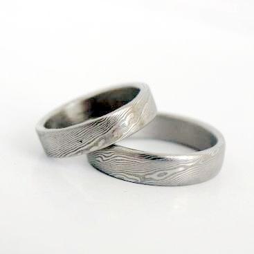 Snubní prsteny kovaná nerezová ocel damasteel DA-1006 (Snubní prsteny kovaná nerezová ocel damasteel DA-1006)