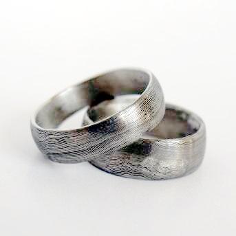 Snubní prsteny kovaná nerezová ocel damasteel DA-1011 (Snubní prsteny kovaná nerezová ocel damasteel DA-1011)
