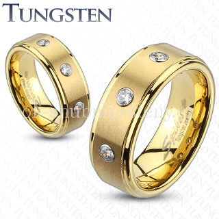 Wolframové snubní prsteny R-TU-136 (Wolframové snubní prsteny R-TU-136)