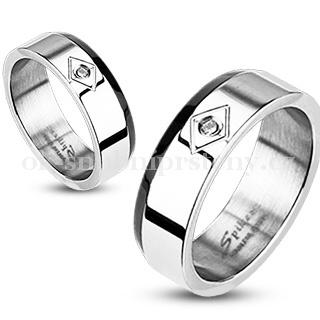 Snubní prsteny z chirurgické oceli R-M1007 (Snubní prsteny R-M1007)