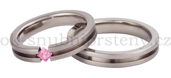 Snubní Titanové prsteny T1-4-1pc (Snubní prsteny T1-4-1pc)