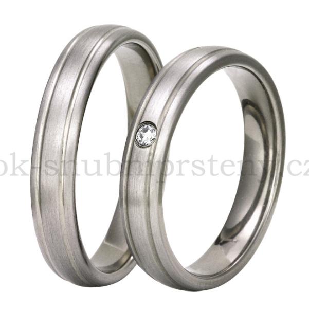 Snubní Titanové prsteny T2-4 (Snubní prsteny T2-4)