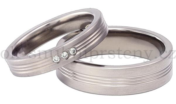 Snubní Titanové prsteny T3-4 (Snubní prsteny T3-4)