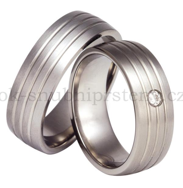 Snubní Titanové prsteny T12-7 (Snubní prsteny T12-7)