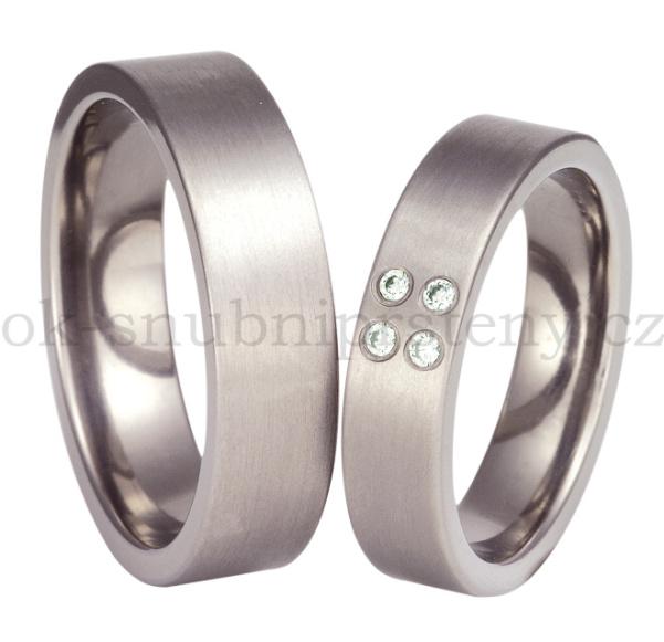 Snubní Titanové prsteny T37-6 (Snubní prsteny T37-6)
