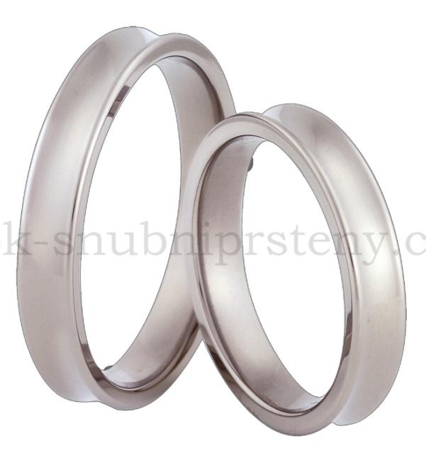 Snubní Titanové prsteny T66-4 (Snubní prsteny T66-4)