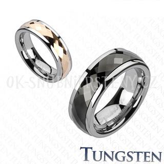 Wolframové snubní prsteny R-TUF-387