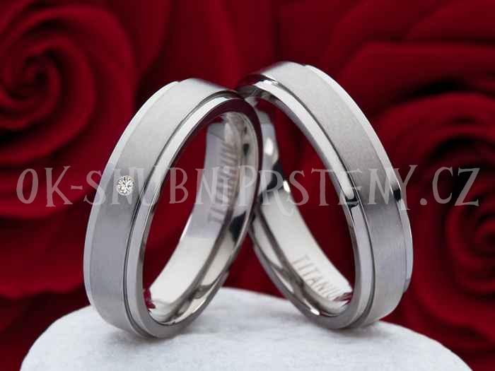 Titanové snubní prsteny JT004 (Snubní prsteny JT004)