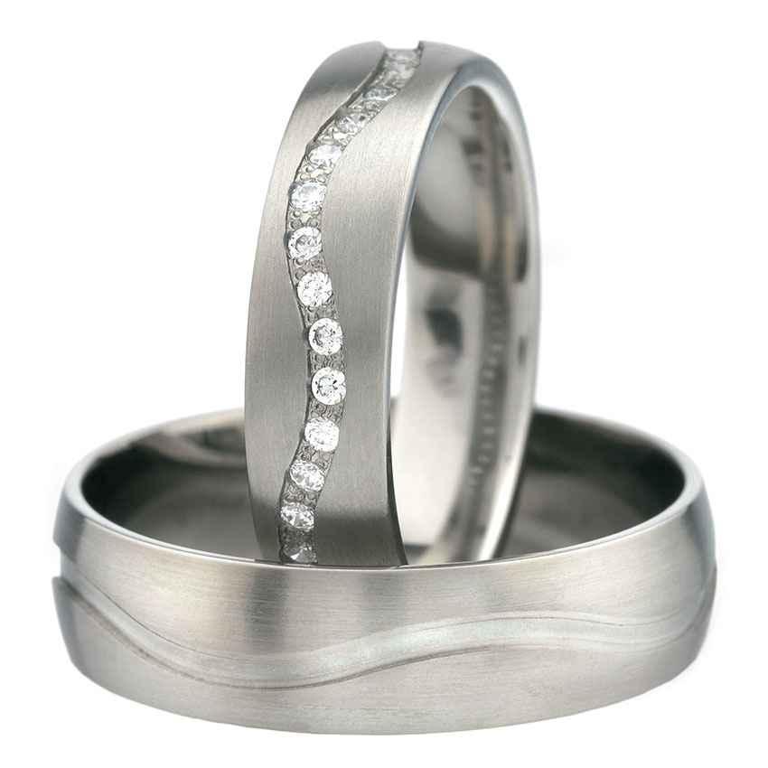 Snubní Titanové prsteny T90-5/1,3+T90-5 (Snubní prsteny T90-5/1,3+T90-5)