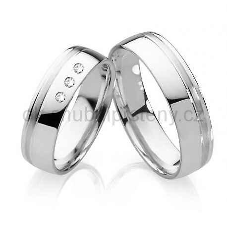 Snubní prsteny s brilianty OC1006B (Snubní prsteny OC1006B)