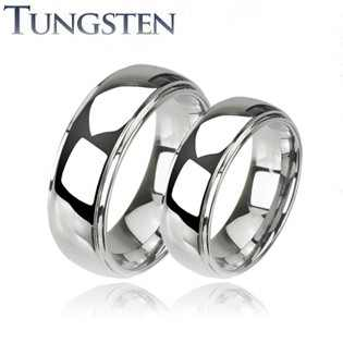 Wolframové snubní prsteny R-TU-121 (Wolframové snubní prsteny R-TU-121)