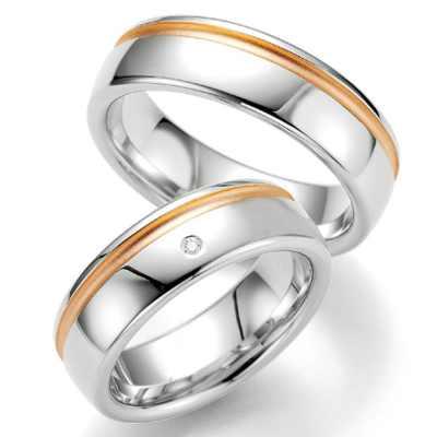 Snubní prsteny z chirurgické oceli OZ1007 (Snubní prsteny OZ1007)