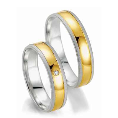 Kombinované snubní prsteny z chirurgické oceli OZ1008 (Snubní prsteny OZ1008)