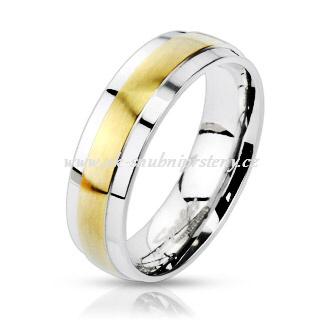Levné snubní prstýnky z chirurgické oceli R-M0019 (Levné snubní prsteny R-M0019)