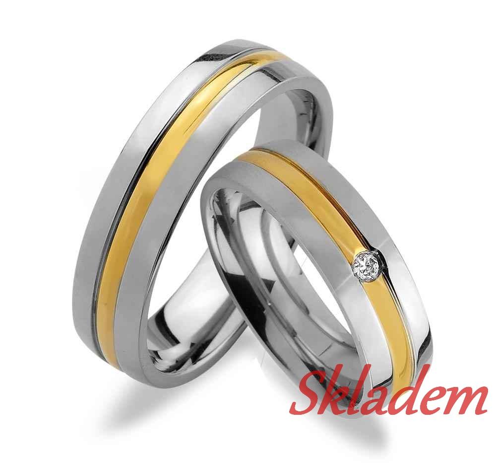 Svatební prsteny z chirurgické oceli OKU-13 (Snubní prsteny OKU-13)