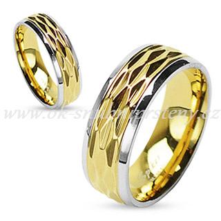 Snubní prsteny levně z chirurgické oceli R-H0909 (Snubní prsteny R-H0909)