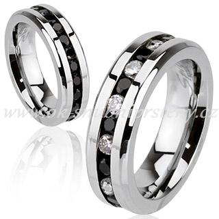 Levné snubní prsteny z chirurgické oceli R-H1572-6 (Snubní prsteny R-H1572-6)