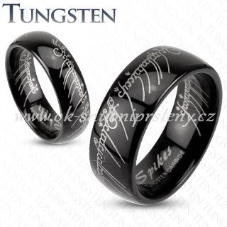 Wolframové snubní prsteny pána prstenů R-TU-160 (Wolframové snubní prsteny R-TU-160)