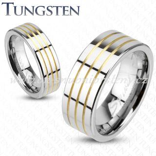 Wolframové snubní prsteny R-TU-161 (Wolframové prsteny R-TU-161)