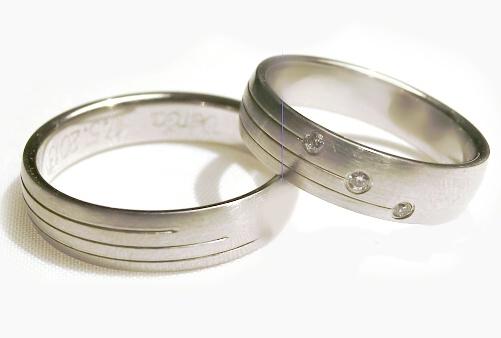 Snubní prsteny z chirurgické oceli OC1094 (Snubní prsteny OC1094)