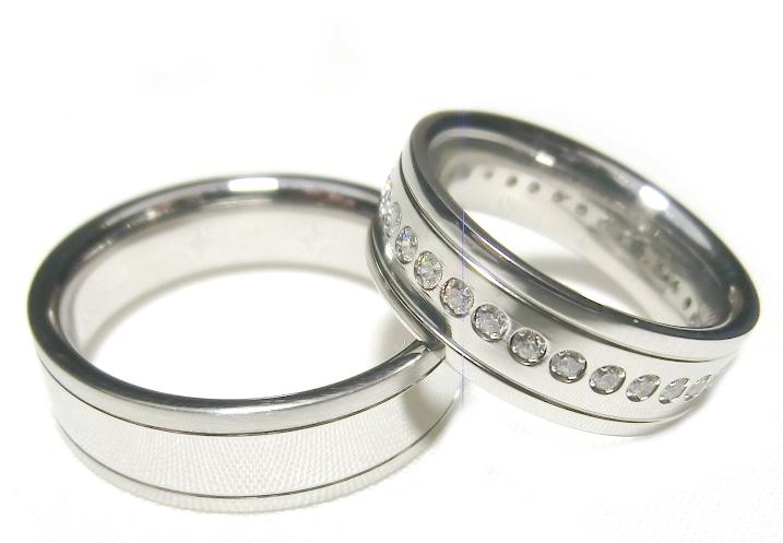 Snubní prsteny z chirurgické oceli OC1047