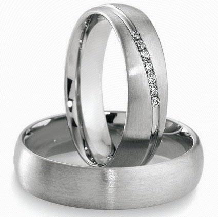 Snubní prsteny z chirurgické oceli OC1051