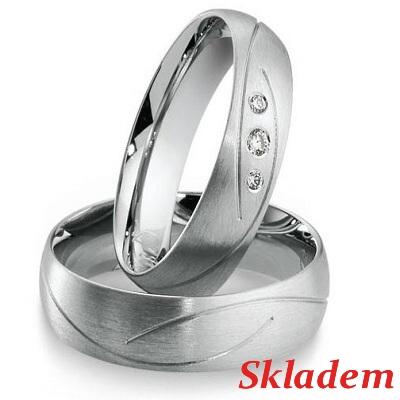 Snubní prsteny z chirurgické oceli OC1054