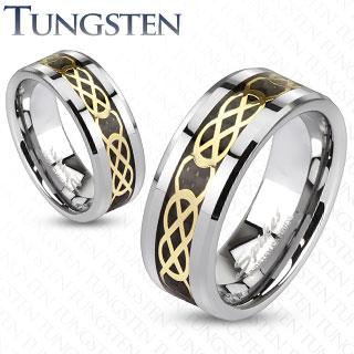 Wolframové snubní prsteny R-TU-213