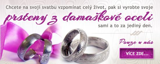 Poukaz na výrobu Snubních prstenů Damasteel DA-1000 (Vyrobte si snubní prsteny sami aneb Zážitek na celý život)