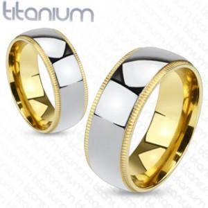 Titanové snubní prsteny 1 pár HWRTM1011
