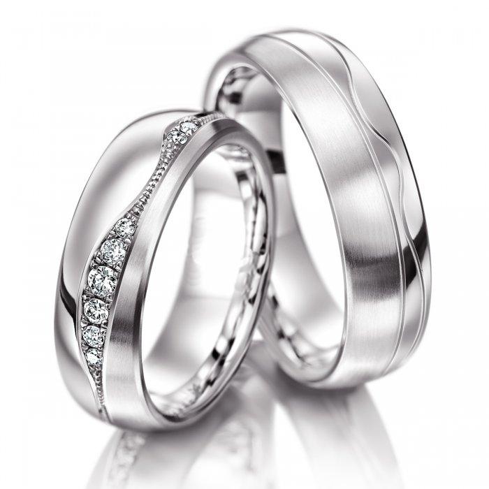 Luxusní snubní prsteny chirurgická ocel OC1044 (Dárkové balení zdarma)