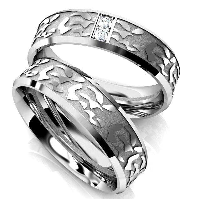 Luxusní snubní prsteny chirurgická ocel OC1059 (Dárkové balení zdarma)