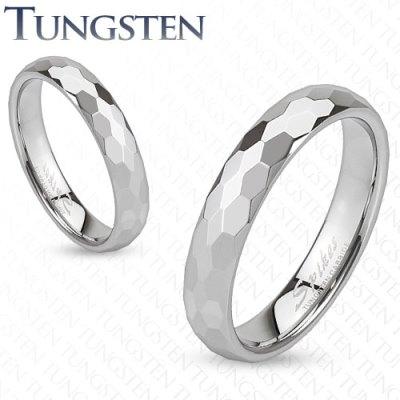 Wolframové snubní prsteny 1 pár HWRTUF008