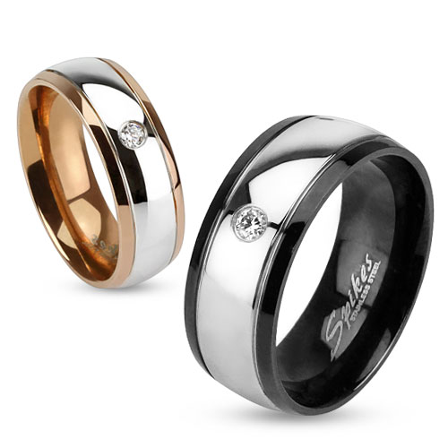 Snubní prsteny chirurgická ocel 1 pár HWRM2956 (Dárkové balení zdarma)