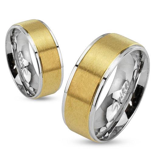 Snubní prsteny chirurgická ocel 1 pár HWRM0027 (Dárkové balení zdarma)