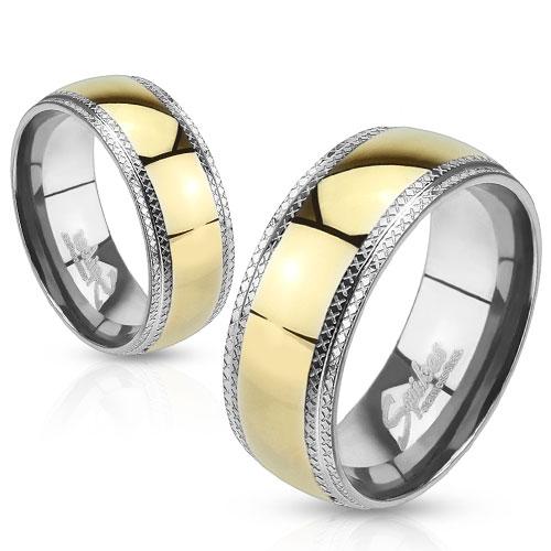 Snubní prsteny chirurgická ocel 1 pár HWRH0944 (Dárkové balení zdarma)