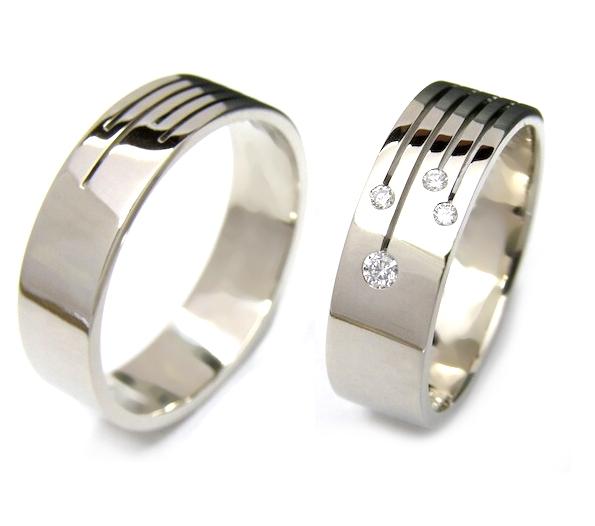 Snubní prsteny z chirurgické oceli OC1101