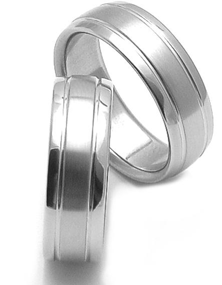 Snubní prsteny z chirurgické oceli SRZ1700 (Doprava a Dárkové balení Zdarma)