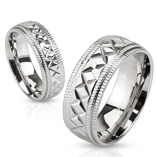 Snubní prsteny z chirurgické oceli R-M3632