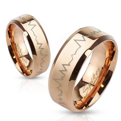 Snubní prsteny z chirurgické oceli R-M3111R