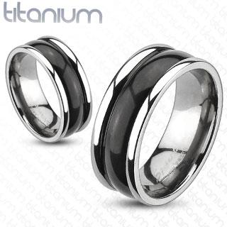 Titanové snubní prsteny R-TM-3144