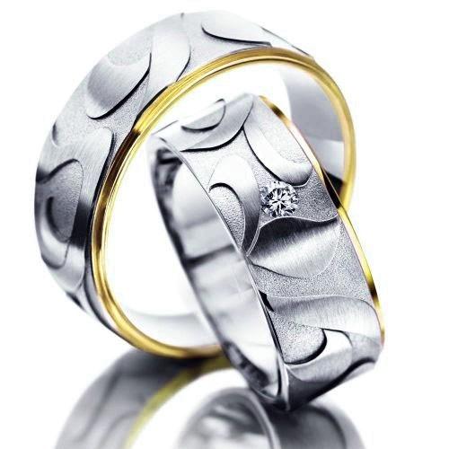 Snubní prsteny z chirurgické oceli OC1109