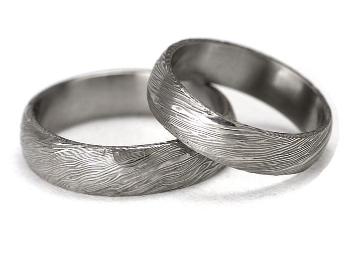 Snubní prsteny damasteel - Voda DA1016