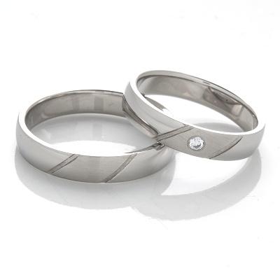 Snubní prsteny z chirurgické oceli OC1116