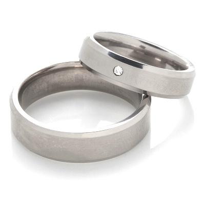 Snubní prsteny z chirurgické oceli OC1117