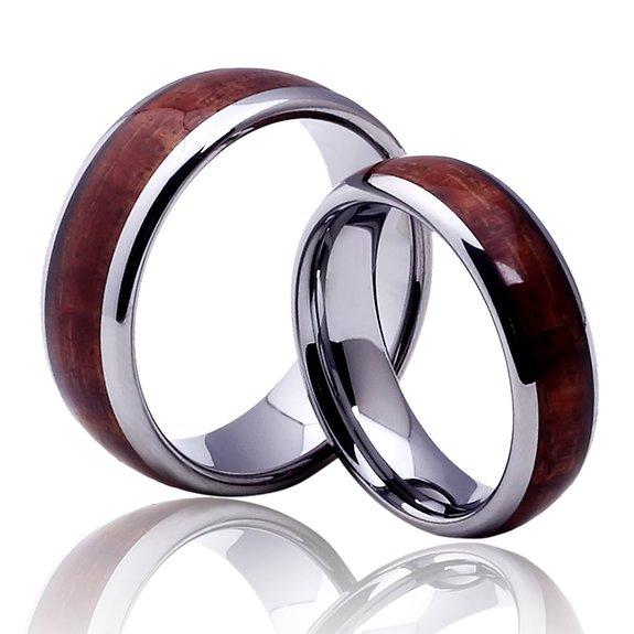 Wolframové prsteny se dřevem R-TU-110