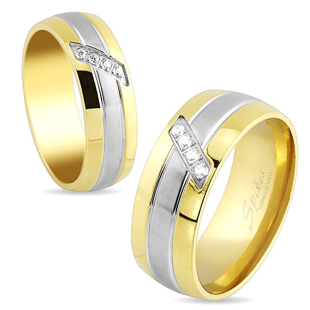 Snubní prsteny chirurgická ocel R-S1532 (Dárkové balení zdarma)
