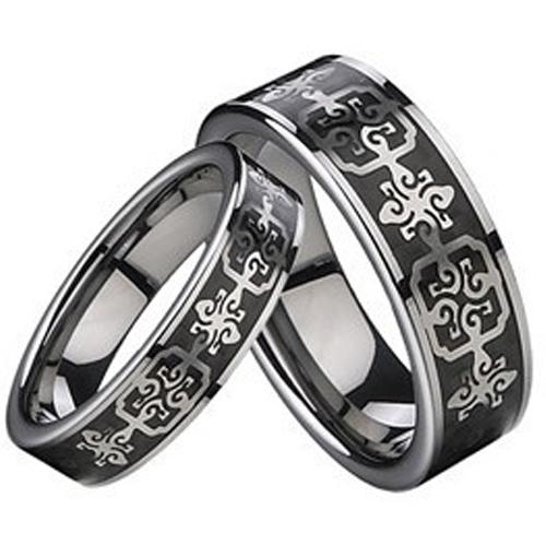 Wolframové snubní prsteny R-TU-207