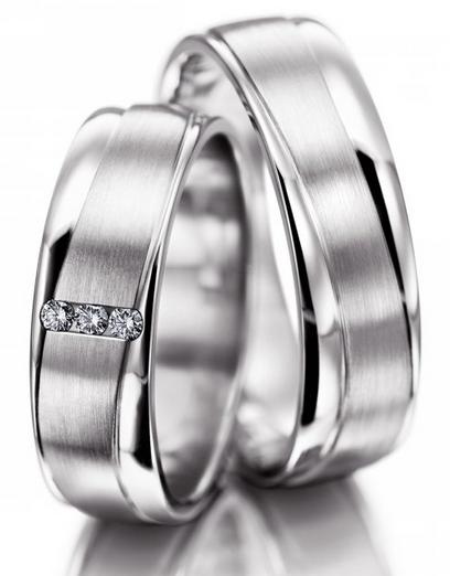 Snubní prsteny z chirurgické oceli OC1123